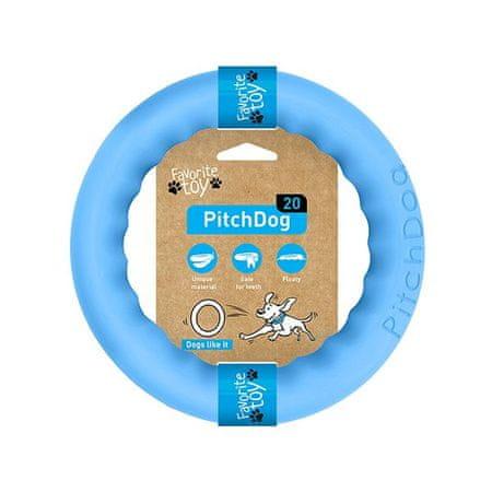 Pitch Dog obruč za treniranje pasa, plava, 20 cm