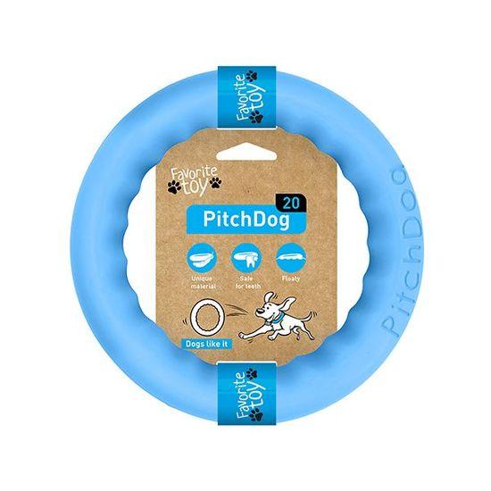 Pitch Dog tréninkový KRUH pro psy modrý 20 cm