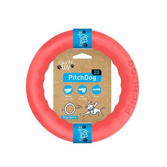 Pitch Dog tréninkový KRUH pro psy růžový 20 cm