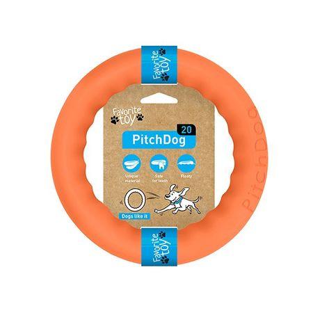 Pitch Dog obroč za treniranje psov, oranžen, 20 cm