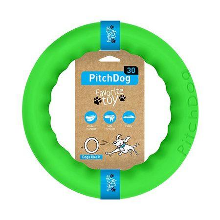 Pitch Dog obruč za treniranje pasa, zelena, 28 cm