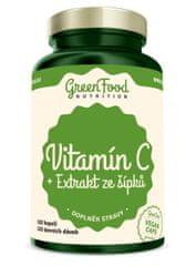 GreenFood Vitamin C + Extrakt zo šípok 120kapsúl