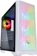 BitFenix Nova Mesh TG A-RGB, Tempered Glass, biela