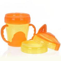 Vital Baby Detský výučbový 3 dielny hrnček, oranžový