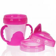 Vital Baby Detský výučbový 3 dielny hrnček 200 ml, ružový