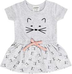 Jacky dievčenské šaty s krátkym rukávom