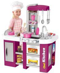 iMex Toys iMex Velká dětská kuchyňka s tekoucí vodou a lednicí fialová