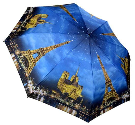 Blooming Brollies Skladací plne automatický dáždnik Galleria Paris City of Lights GCFPL