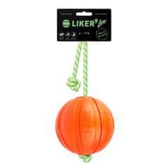 Liker Labda kutyáknak LUMI L, 9 cm, világító és fényvisszaverő kötéllel