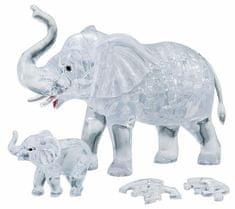 HCM Kinzel 3D Crystal puzzle Slon s mládětem 46 dílků
