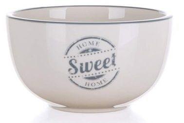 Banquet Sweet Home keramična skleda, 12,5 cm, siva, 6 kosov