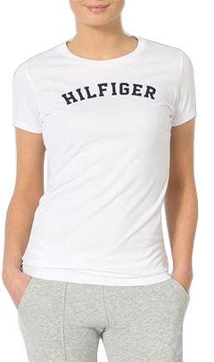 Tommy Hilfiger Koszulka damska Cotton Icon ic Logo SS Tee Print UW0UW00091 -100 White (Wielkość S)