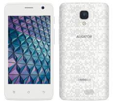 Aligator smartfon S4090 Duo, 1GB/8GB, White