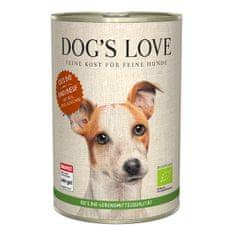 Dog's Love konzerva 100 % BIO Organic hovězí 400 g