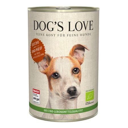 Dog's Love 100 % BIO Organic konzerva za pse, goveje meso, 400 g