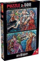 AnaTolian Puzzle Barevné poznámky 2x500 dílků