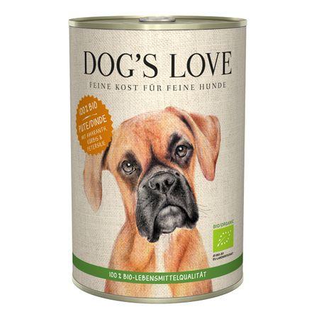 Dog's Love 100 % BIO Organic konzerva za pse, puran, 400 g