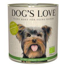 Dog's Love konzerva 100 % BIO Organic kuře 800 g