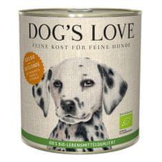 Dog's Love konzerva 100 % BIO Organic krocan 800 g