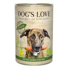 Dog's Love konzerva B.A.R.F. 100 % BIO Vegan greens 400 g
