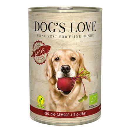 Dog's Love B.A.R.F. 100 % BIO Vegan konzerva za psa, z rdečo zelenjavo, 400 g .
