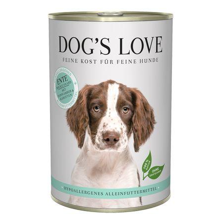 Dog's Love Hypoallergenic konzerva za pse, z raco, 400 g