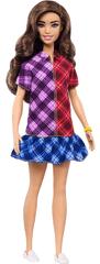 Mattel Barbie Modell 137 - kockás ruhában