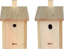 KikiTiki Sada stavebnic ptačích budek - sýkorník 28 mm a 30x45 mm