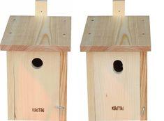 KikiTiki  Sada stavebnic ptačích budek - sýkorník 34 mm a 30x45 mm