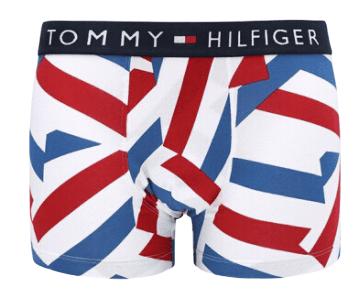 Tommy Hilfiger pánske boxerky UM0UM01531 Trunk Scattered Stripes S biele