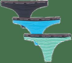Tommy Hilfiger női tanga hármas csomagolásban UW0UW01609 3P Thong Stripe Print