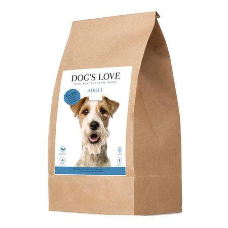 Dog's Love Adult pasji briketi, z lososom, 12 kg