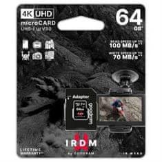 GoodRam IRDM memorijska kartica microSDXC 64 GB, adapter