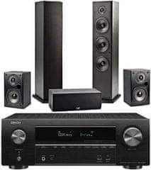 DENON AVR-X1600H + Polk T50 + T30 + T15, čierne