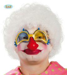 Parochňa AFRO biela - klaun