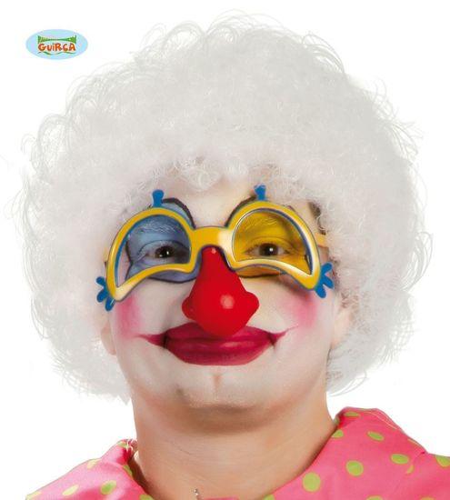 Paruka AFRO bílá - klaun