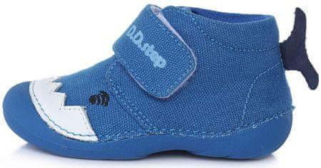 D-D-step C015-630 fantovski platneni čevlji, modri, 19
