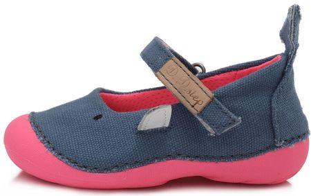 D-D-step lány vászoncipő C015-240, 20, kék
