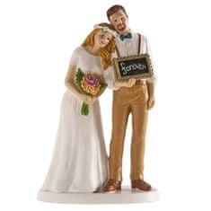 Dekora Svatební figurka na dort s nápisem navždy