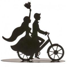 Dekora Plechová figurka na svatební dort černá