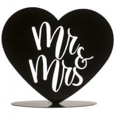 Dekora Plechová figurka na svatební dort černá srdce