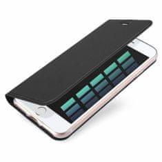 Dux Ducis Skin Pro usnjeni flip ovitek za iPhone 7/8/SE 2020, temno siva