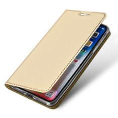 Dux Ducis Skin Pro usnjeni flip ovitek za iPhone XR, zlato