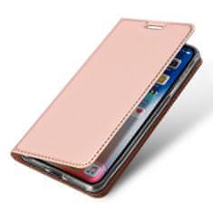 Dux Ducis Skin Pro usnjeni flip ovitek za iPhone XR, roza