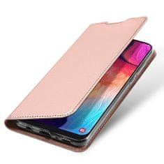 Dux Ducis Skin Pro knížkové kožené pouzdro na Samsung Galaxy A50 / A50s / A30s, růžové