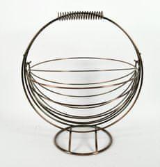DUE ESSE Závesný košík na ovocie 30 × 33 cm, BRONZE