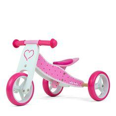 MILLY MALLY Detské multifunkčné odrážadlo bicykel 2v1 Milly Mally JAKE Hearts Ružová