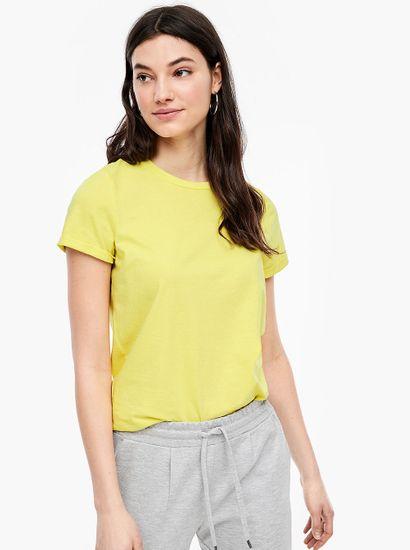 Q/S designed by dámske tričko 45.899.32.5618 S žltá