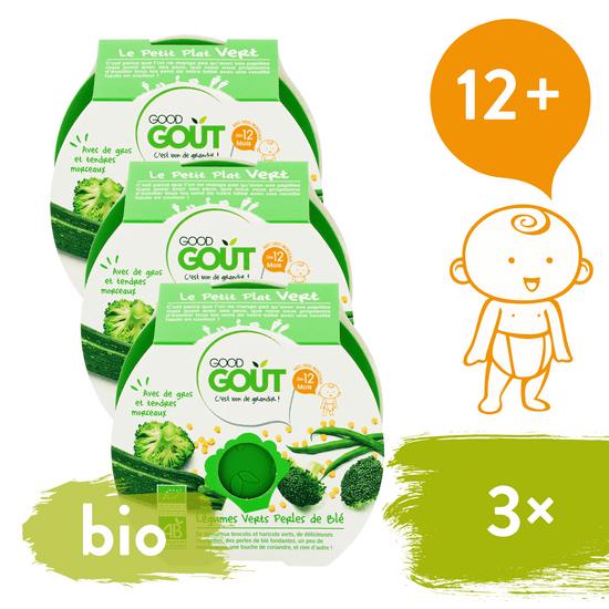 Good Gout BIO Brokolice, cuketa a zelené fazolky s tarhoňou 3x 220 g