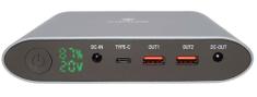 Viking Viking Notebooková power banka SMARTECH III QC 3.0 25 000 mAh VSMTIII25G, šedá